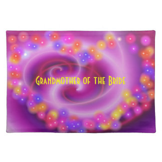 Grandmother of the Bride Swirly Heart Placemat