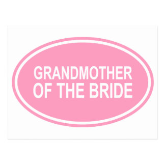 Grandmother of the Bride Wedding Oval Pink Postcard