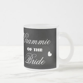 GRANDMOTHER of the BRIDE with Hearts A01E18 Frosted Glass Coffee Mug