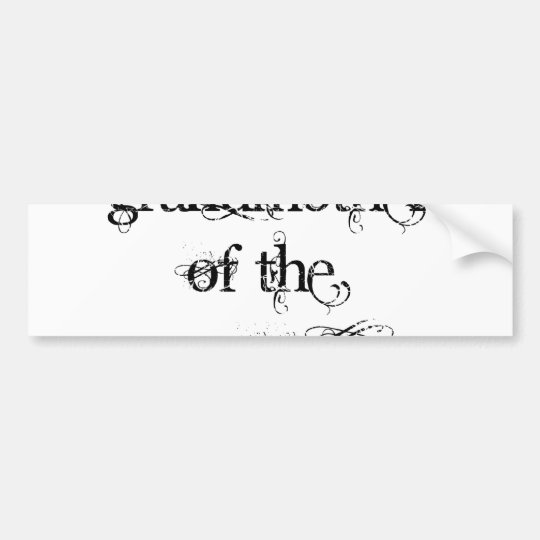 Grandmother of the Groom Bumper Sticker