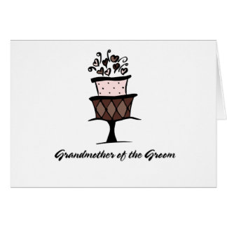 Grandmother of the Groom Cake Card
