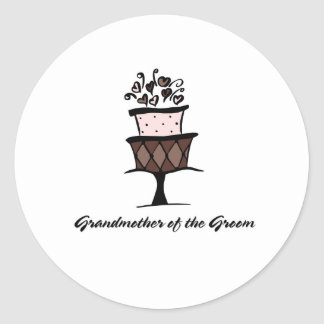 Grandmother of the Groom Cake Classic Round Sticker