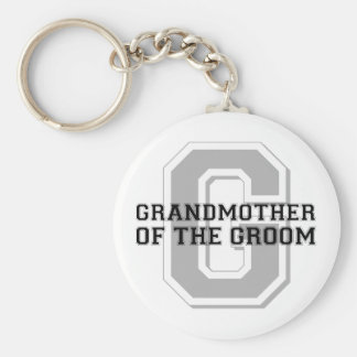 Grandmother of the Groom Cheer Basic Round Button Keychain