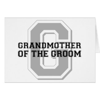 Grandmother of the Groom Cheer Card