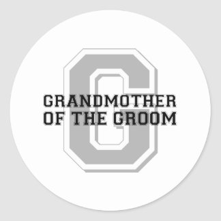 Grandmother of the Groom Cheer Classic Round Sticker