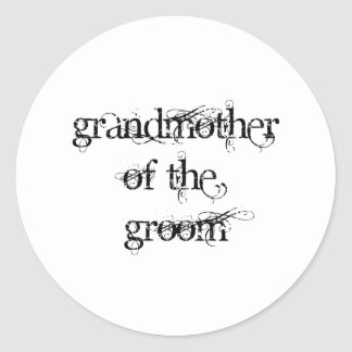 Grandmother of the Groom Classic Round Sticker