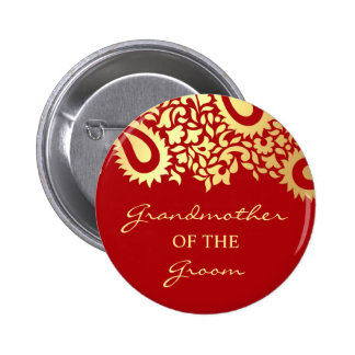 Grandmother of the Groom Paisleys Wedding Button