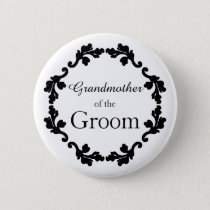 Grandmother of the Groom simple wedding Button
