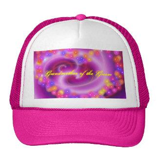 Grandmother of the Groom Swirly Heart Hat