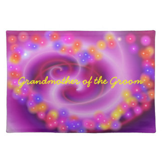 Grandmother of the Groom Swirly Heart Placemat