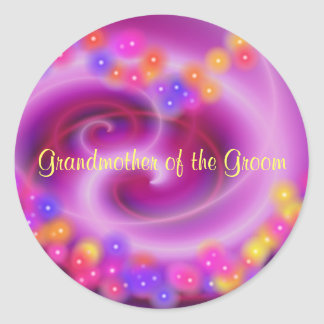 Grandmother of the Groom Swirly Heart Sticker