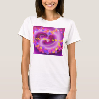 Grandmother of the Groom Swirly Heart T-Shirt