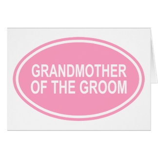 Grandmother of the Groom Wedding Oval Pink Card