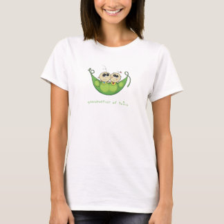Grandmother of Twins - Two Peas in a Pod- Boy Girl T-Shirt