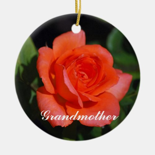 Grandmother Orange and Apricot Roses Ornament