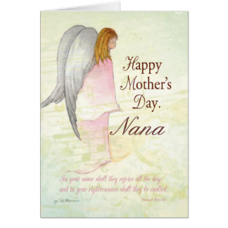 Grandmother, Personalized Mother's Day Angel Card