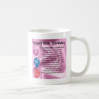 Grandmother poem  -  80th birthday coffee mug