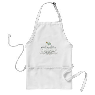 Grandmother Poem with Birds Adult Apron