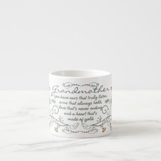 Grandmother Poem with Birds Espresso Cup