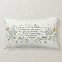 Grandmother Poem with Birds Lumbar Pillow