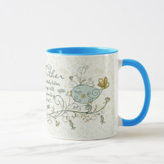 Grandmother Poem with Birds Mug