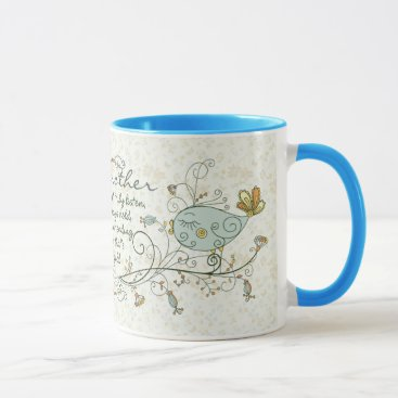 ironydesigns Grandmother Poem with Birds Mug