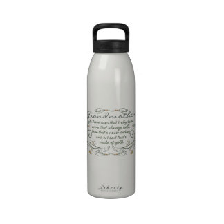 Grandmother Poem with Birds Water Bottle