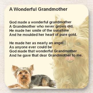 Grandmother Poem - Yorkshire Terrier Beverage Coasters