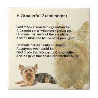 Grandmother Poem - Yorkshire Terrier Tiles