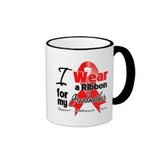Grandmother - Red Ribbon Awareness Coffee Mugs