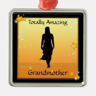 Grandmother Totally Amazing Woman Premium Ornament