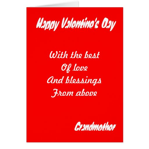 Grandmother valentine's day greeting cards