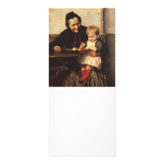 Grandmother with Granddaughter at the Table Rack Card