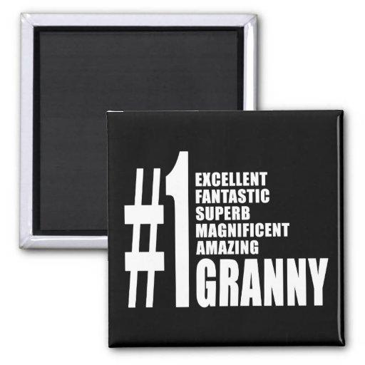 Grandmothers Birthdays : Number One Granny Fridge Magnets