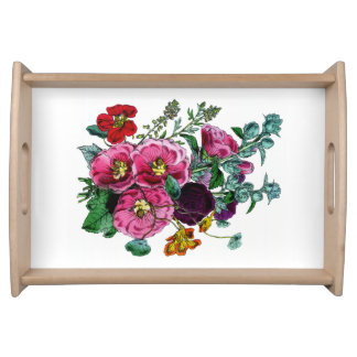 Grandmothers Bouquet Serving Tray