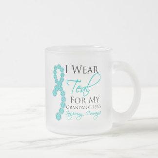 Grandmother's Inspiring Courage - Ovarian Cancer Coffee Mugs