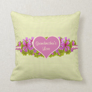 Grandmother's Love Plaid Throw Pillow