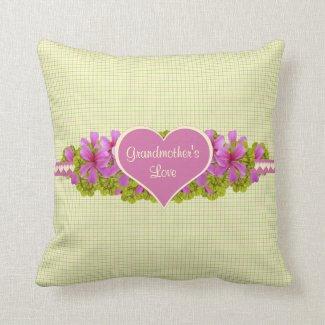 Grandmother's Love Plaid Throw Pillow