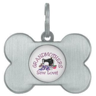 Grandmothers Pet Name Tag