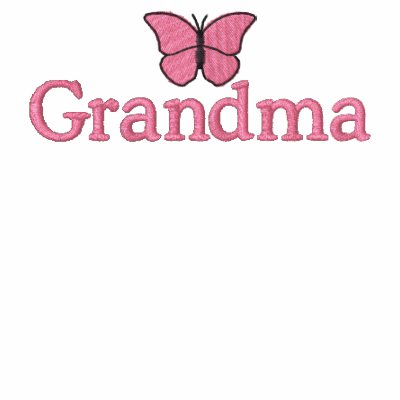 Grandmothers Pink Butterfly Embroidered Shirt