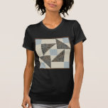 Grandmother's Puzzle in Blue, Brown and Cream Tee Shirt