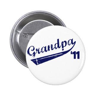 Grandpa '11 T-shirt Pinback Buttons