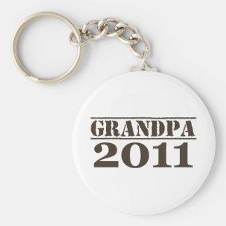 Grandpa 2011 basic round button keychain