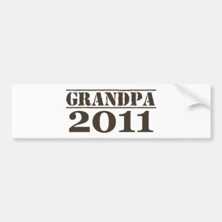 Grandpa 2011 bumper sticker
