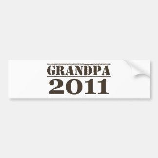 Grandpa 2011 bumper stickers