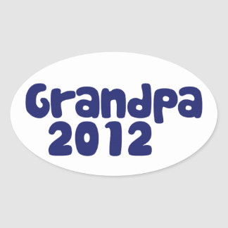 Grandpa 2012 oval sticker