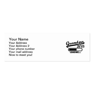 Grandpa 2015 Double-Sided mini business cards (Pack of 20)