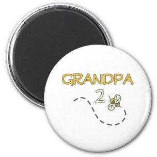 Grandpa 2 Bee 2 Inch Round Magnet