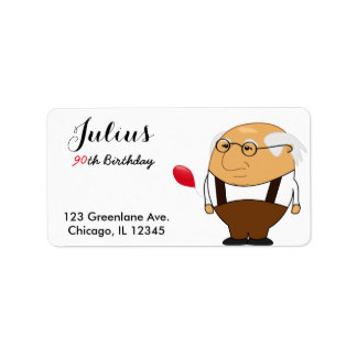 Grandpa 90th Birthday Address Label | Personalize