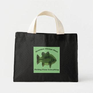 Grandpa Always Says Fishing Fixes Everything Mini Tote Bag